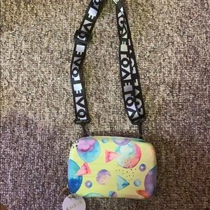 Multicolored crossbody small purse .